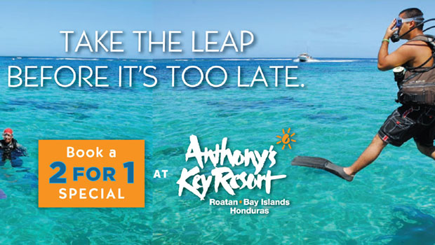 Last chance to book Anthony's Key 2 for 1 Divers Special