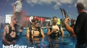 Wounded Warriors Learn to SCUBA Dive in BE A DIVER Pool at Adaptive Watersports Festival