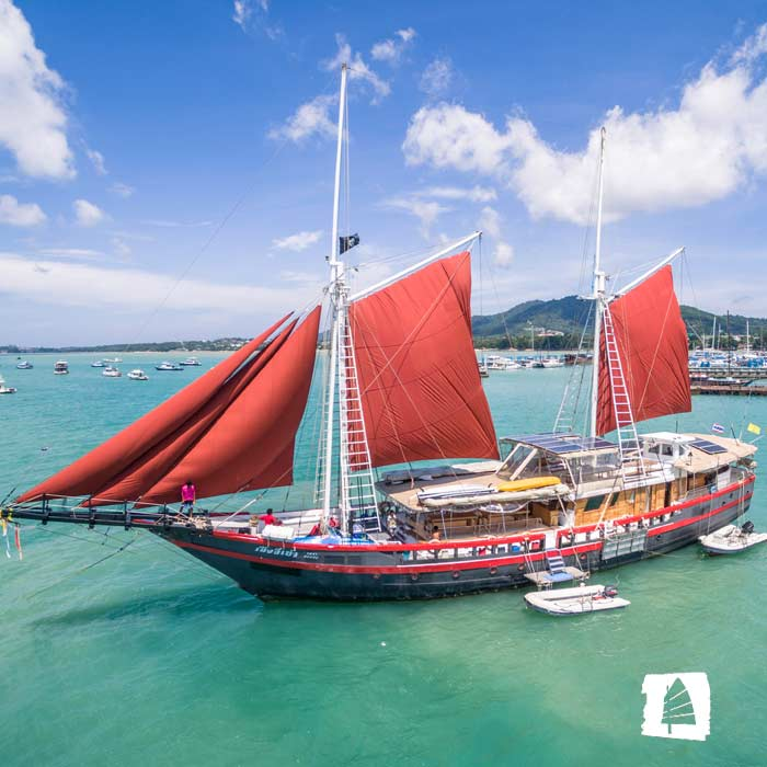 New Phinisi Liveaboard Yacht Joins THE JUNK Line in Thailand
