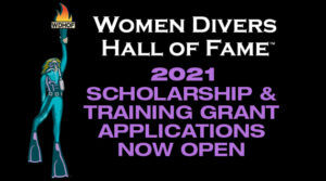Applications Now Open for Women Divers Hall of Fame 2021 Scholarships and Training Grants